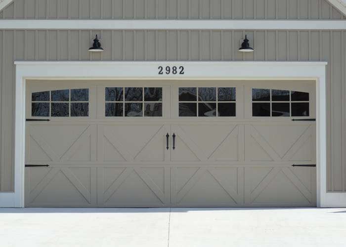 Wayne Dalton 9700, 16' x 7', Lexington, Clay, 12 Window Arched