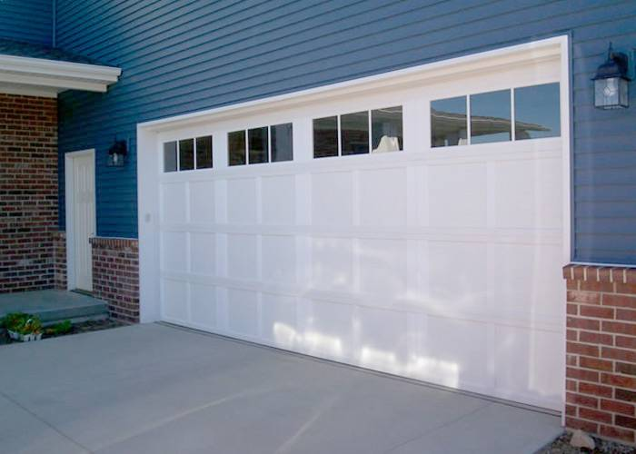 Wayne Dalton 9700, Newport , 16' x 7', White, 6 Window Square