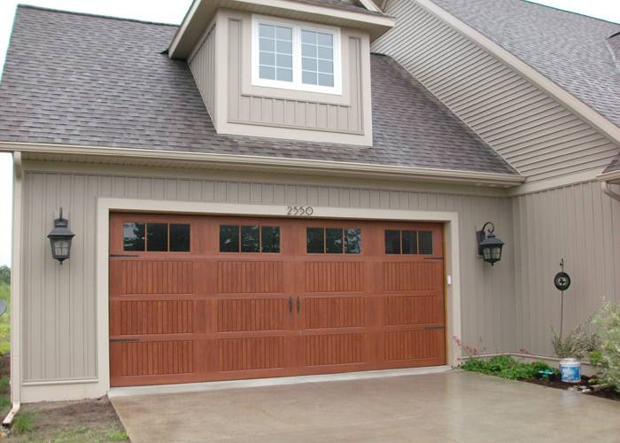 Wayne Dalton, 9800 Sonoma panel style, Cherry, stainded finish